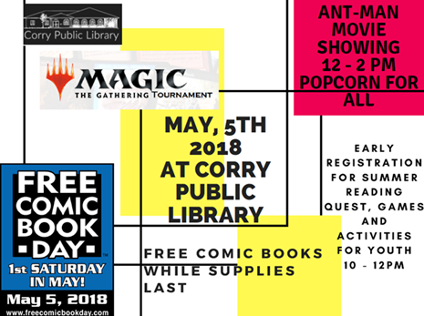 National Free Comic Book Day & Early Registration for Summer Reading Quest